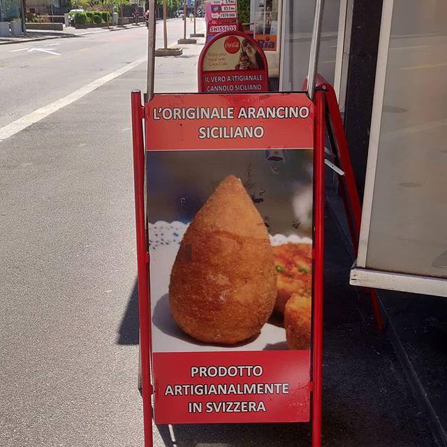 Il vero #arancino (o #arancina) #siciliano Made in #lugano