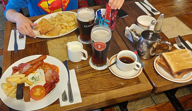 This #morning At #11.00 #AM #was #breakfast #time in #kilkenny. With #beer