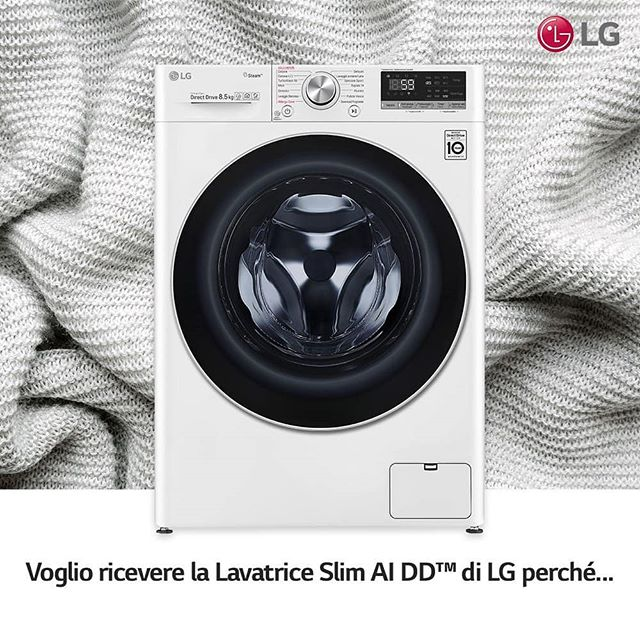 Voglio ricevere la lavatrice slim AI DD di lg perché starebbe benissimo a casa mia :)#LGAIDDSlim  LG Italia