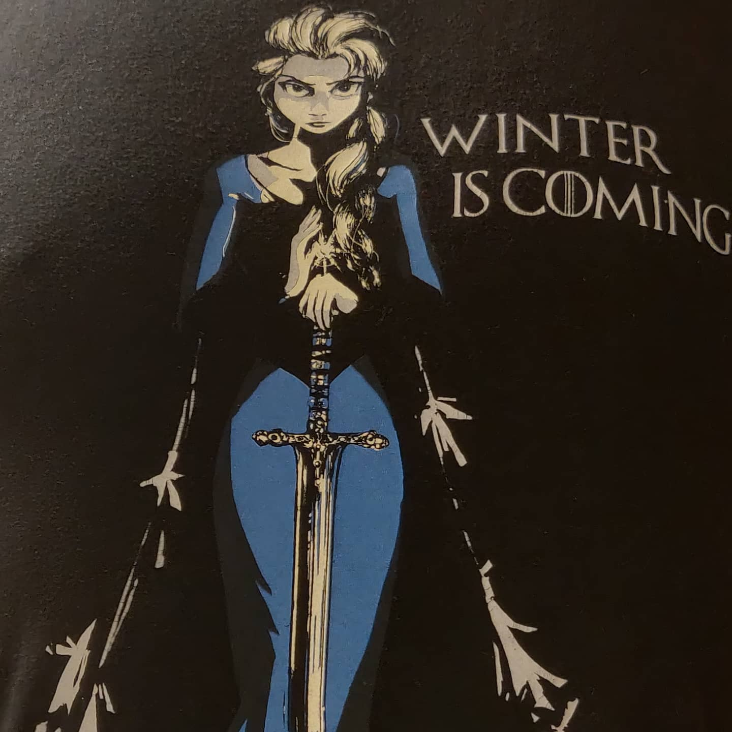 What we say to Elsa...NOT TODAY!#got #winteriscoming #winter #is #coming #Elsa #frozen #nerd #tshirt